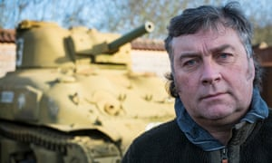 Kevin Wheatcroft with one of his tanks