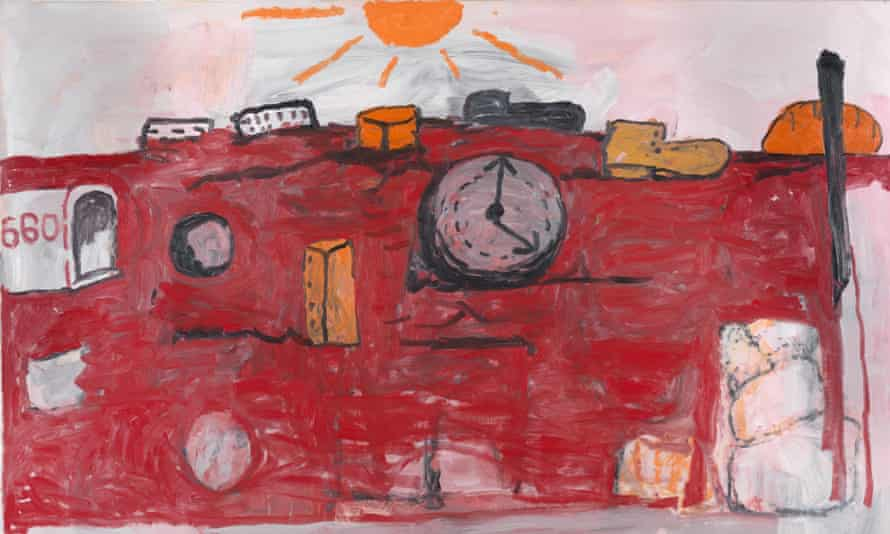 'A painter of brute matter and even more squalid inclinations' ... The Hill (1971) by Philip Guston. Courtesy the estate of Philip Guston/Timothy Taylor