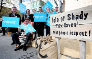 ActionAid tax haven stunt outside Barclays AGM