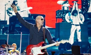Pete Townshend on tour at the o2 in London with the Who Hits 50! in 2015