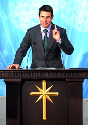 Tom Cruise at the opening of Scientology church in Madrif.