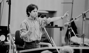 James Horner at work in the Abbey Road studios, north London.