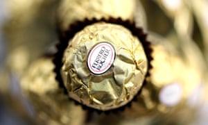 A Ferrero Rocher chocolate