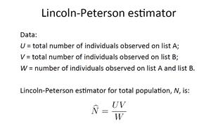 Lincoln-Peterson estimator