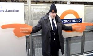Boris Johnson at Clapham Junction overground station