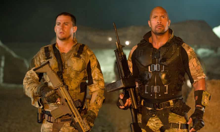 Gun crime ... Channing Tatum and Dwayne Johnson in 2013's sequel, GI Joe: Retaliation.