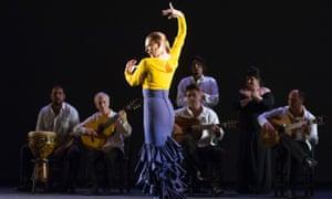 Charo Espino in Flamencura by Paco Peña Dance Company at Sadler's Wells.