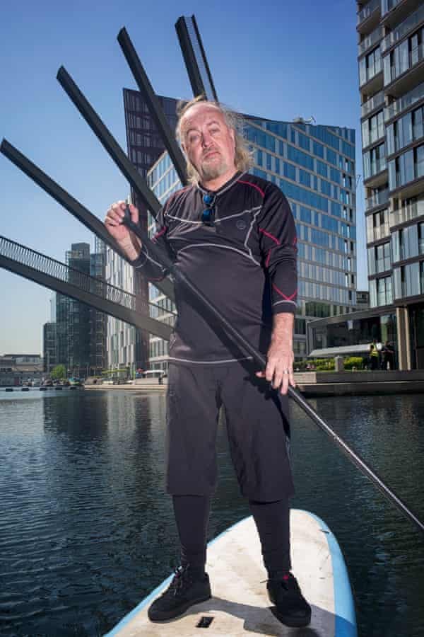 Bill Bailey discovered SUP on holiday with his son a couple of years ago