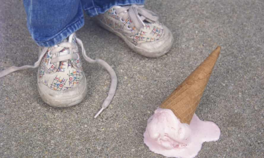 dropped ice cream