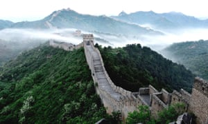 Great Wall in cloud after a rainfall in Chende