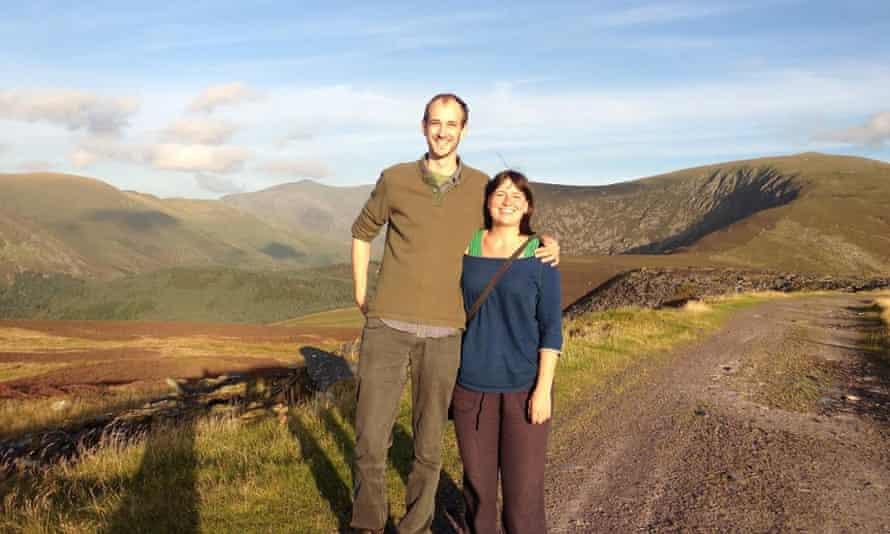 Nicola with Rollo in Snowdonia