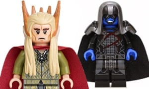 Bricking it…Lee Pace's Lego figures Thranduil and Ronan.