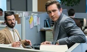 The honour of code… Scoot McNairy and Lee Pace.