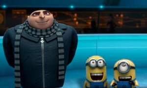 Gru and two minions in a scene from Despicable Me 2, also co-directed by Pierre Coffin