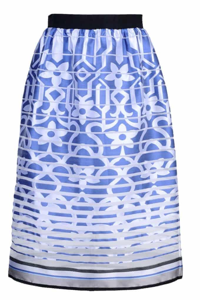 Organza midi skirt, £146, by Ostwald Helgason,
