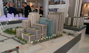 A model of the £1.2bn Shell Centre redevelopment.
