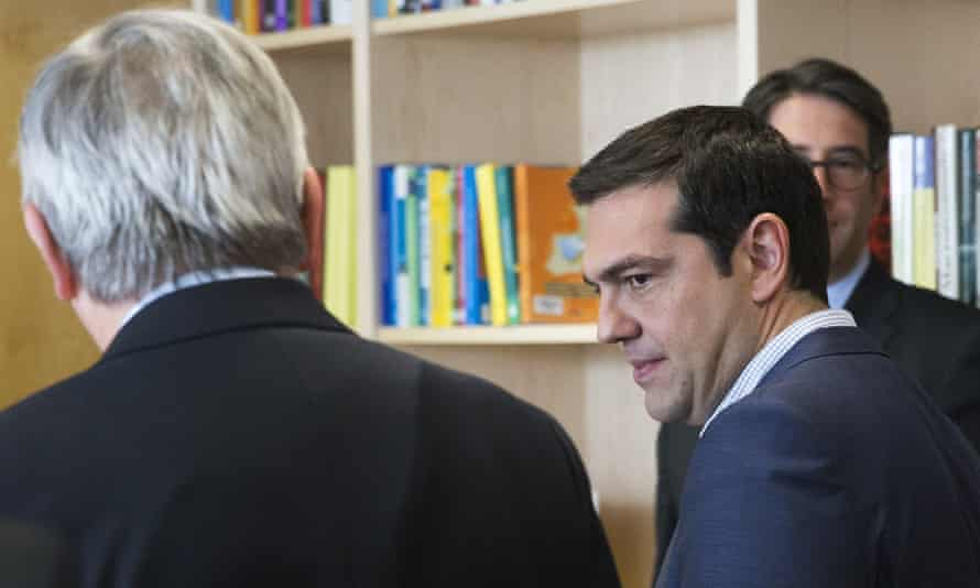 Alexis Tsipras, Greece's prime minister, at the talks in Brussels.