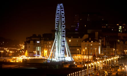 Brighton Wheel and city lights