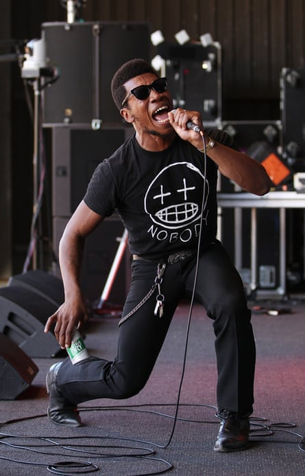 US singer Willis Earl Beal on stage at The Falls festival in Australia, 2012.