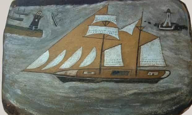 Schooner in St Ives Bay previously described as an Alfred Wallis.