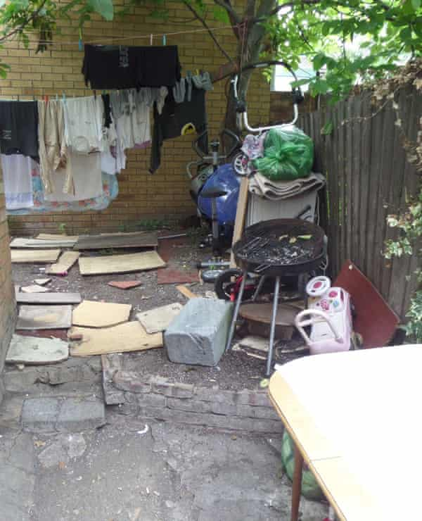 Suspicions were raised about the property because of a history of complaints including excess rubbish in the back garden