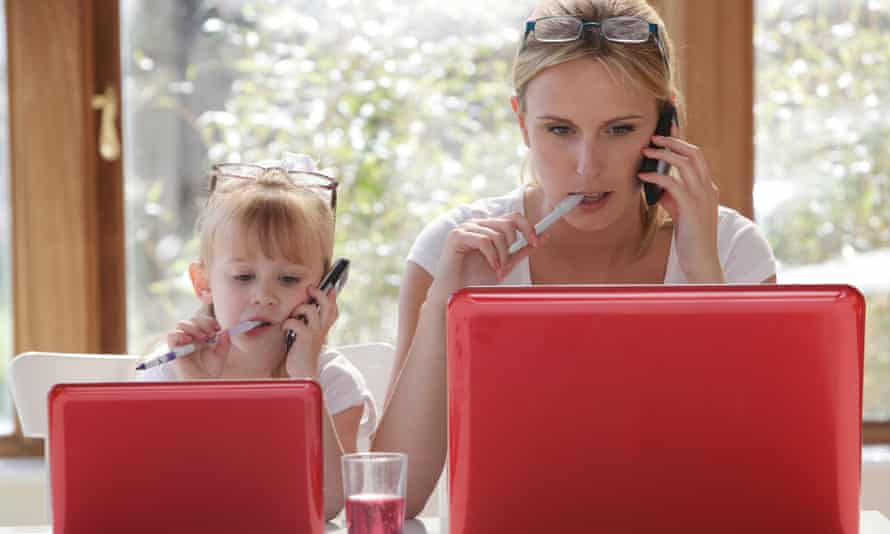 Daughters benefited most from the role model of a mother with a career, the study said.
