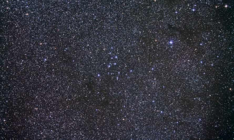 A dense star field in the constellation Cygnus.