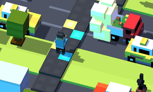 Psy's Crossy Road level includes a new dance-pad scoring system.