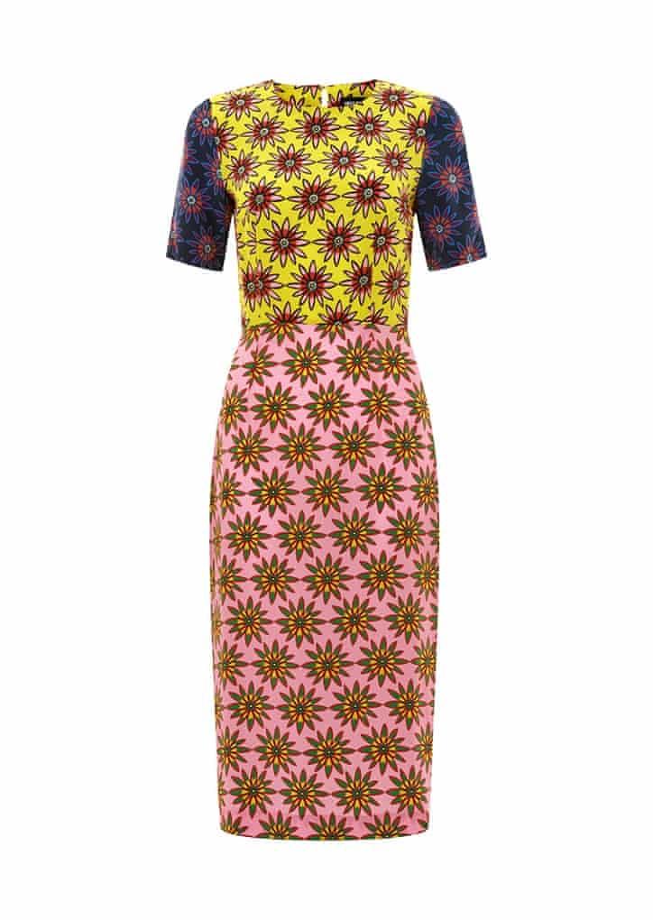 Printed dress, £187, houseofholland.co.uk.