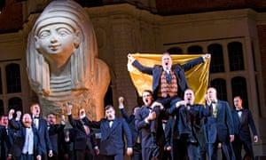 … Peter Auty, top, in Aida.