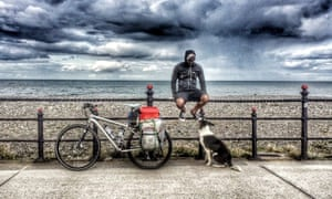 The pair have travelled the length and breadth of the UK on a specially adapted bike.