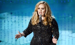Singer Adele performs in Hollywood