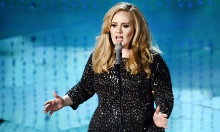 Singer Adele performs onstage during the Oscars held at the Dolby Theatre in Hollywood, California.