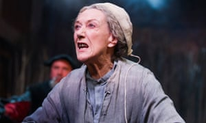 Eileen Atkins (Mother Sawyer) in The Witch Of Edmonton by Dekker, Ford and Rowley in 2014.