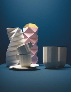 origami-inspired homewares