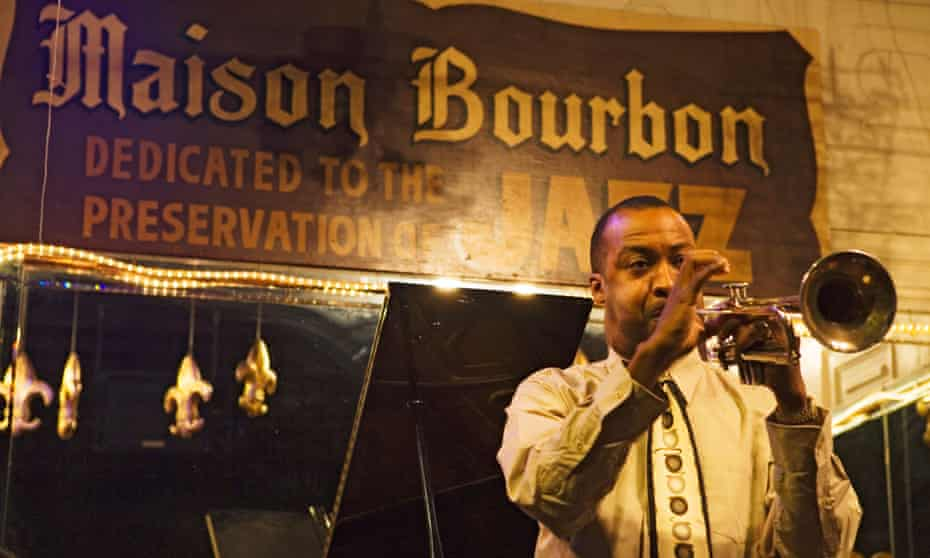 Maison Bourbon is one of the best choices on Bourbon street to listen to Jazz, French Quarter, New Orleans, Louisiana.