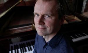 Pianist Steven Osborne at his home in Linlithgow near Edinburgh.
