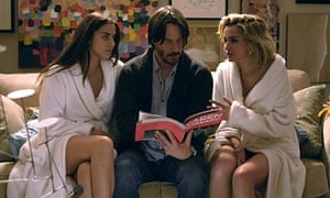 Love thy neighbour: Lorenza Izzo and Ana De Armas call on Keanu Reeves in Knock Knock.