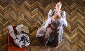 Alex Robertson as Boris Trigorin and Janie Dee as Irina Arkadina.