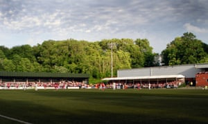 Welsh club The New Saints play at Park Hall – in the English town of Oswestry
