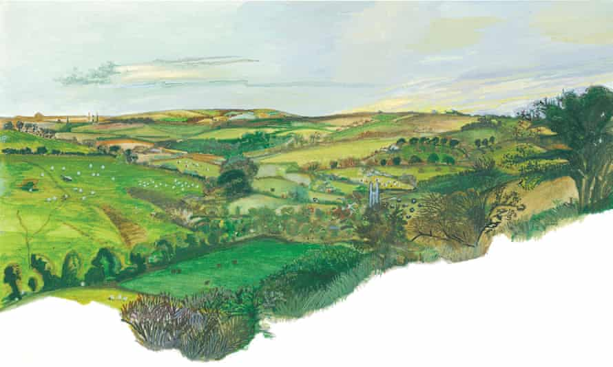 An illustration of the landscape by Annie Freud