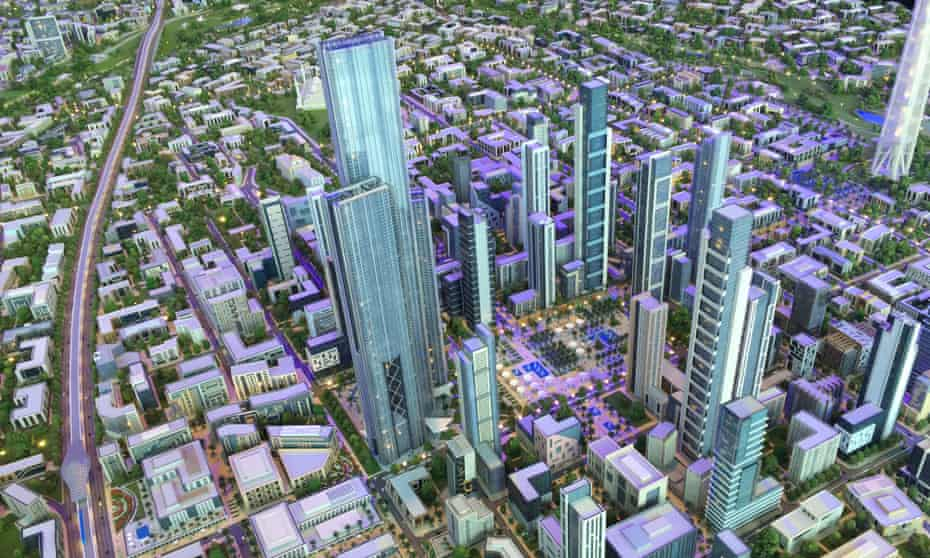 Housing minister Mostafa Madbouly unveiled the   £30bn project to investors over the weekend.