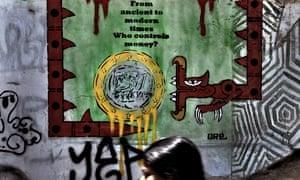 Euro graffiti in Athens
