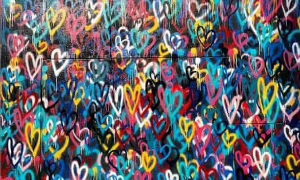 James Goldcrown's mural #lovewall.