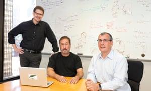 Kris Hammond, Larry Birnbaum and Stuart Frankel of Narrative Science.