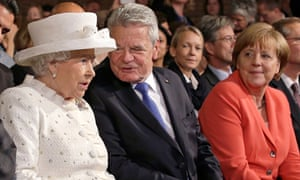 The Queen with Joachim Gauck and Angela Merkel
