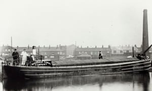 A steam boat on the Rochdale Canalcirca 1890, when 500 boats passed through Manchester city centre every day, carrying 870,000 tonnes of cargo with them each year.