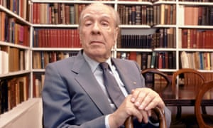 Jorge Luis Borges at home in Buenos Aires in 1983.