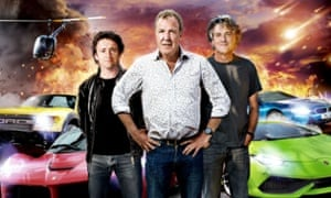 The old guard: (left to right) Richard Hammond, Jeremy Clarkson and James May in Top Gear earlier this year.