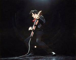 Elvis Presley in 1968.
